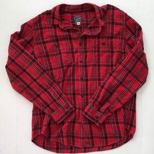 MENS J Crew Sports Flannel shirt